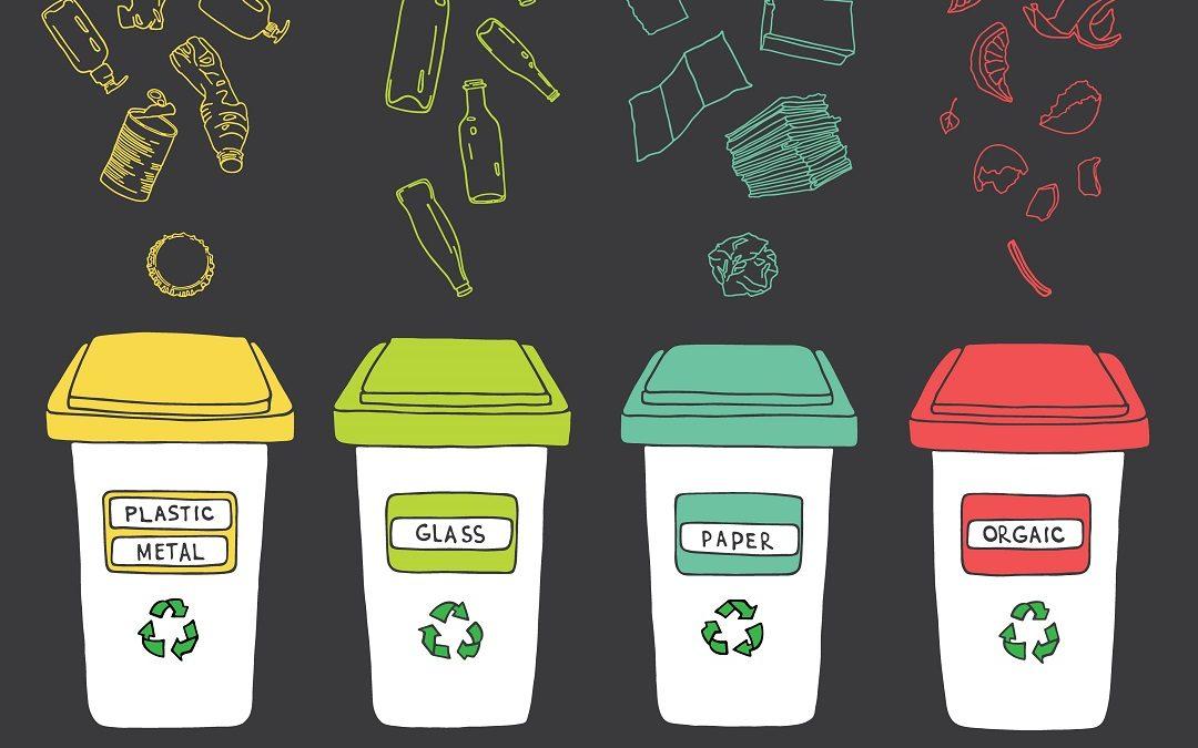 Afval sorteren in uw vakantiewoning