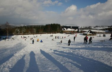 Skipiste van Baraque Fraiture-Ski de fond tot Provincie Luxemburg