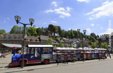 <p>Het treintje van La Roche</p>-Train touristique tot Provincie Luxemburg