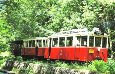 Toeristische Tram van de Aisne-Train touristique tot Provincie Luxemburg