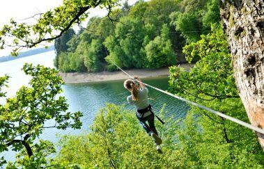 Natura Park aan de Meren van l'Eau d'Heure-Parcours challenge tot Province de Hainaut