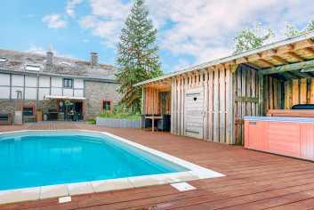 Luxueus vakantiehuis voor 7 personen in oude hoeve te huur in Coo
