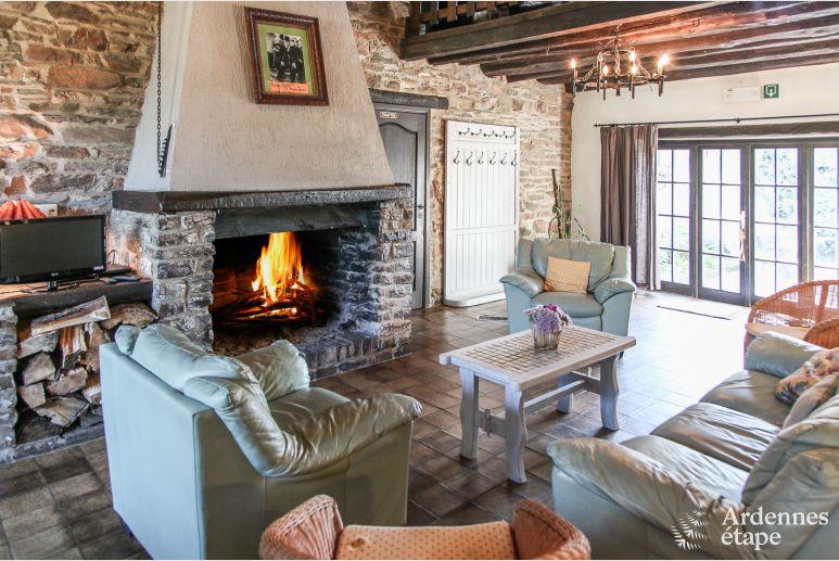 Open Haard Tuin : Charmant vakantiehuis met sauna open haard en prachtige tuin in