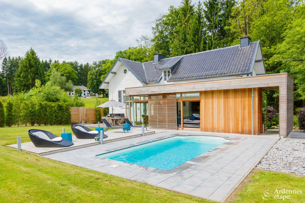 Luxevilla voor 6 personen met tuin en zwembad in spa honden welkom - Decoratie buitenzwembad ...