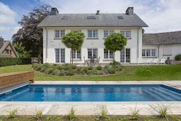 Luxevilla voor 9 personen met tuin, zwembad en wellness te huur in Theux